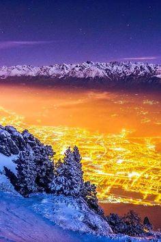 les plus belles photos des villes du monde - Nuit d'hiver sur Grenoble, France Photo: Joris Kiredjian.