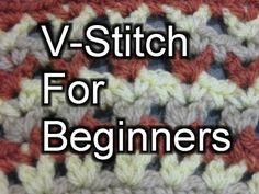 ▶ Crochet V Stitch - Slow Motion Crochet - YouTube