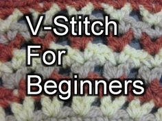 Beginner Crochet Stitches 35 - V Stitch - Slow Motion