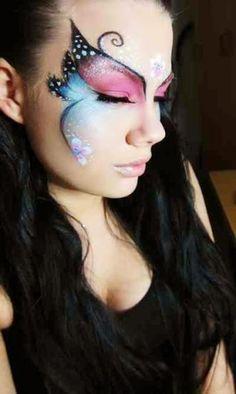 Leuke ideetjes voor de carnaval - Masker vlinder, schmink