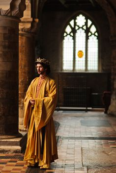 """""""Let's talk of graves, of worms, and epitaphs; / Make dust our paper and with rainy eyes / Write sorrow on the bosom of the earth."""" __Richard II, Act III, Scene 2. Credit: Ben Whishaw, The Hollow Crown: Richard II"""