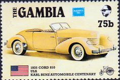 Gambia 1985 Ameripex Cars SG 651 Fine Mint SG 651 Scott 621 Other Commonwealth stamps here