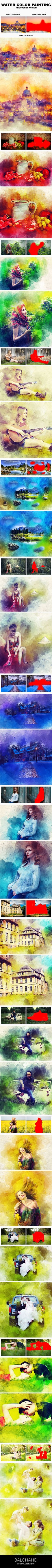 Water Color Painting Photoshop Action - Photo Effects Actions