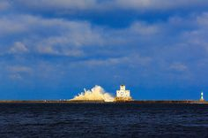 Today, 12/21/12 Milwaukee's Lighthouse suffers yet another wave of desruction. WI