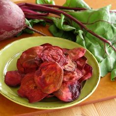 Baked Beet Chips  {Selvera-approved: http://selvera.com/}