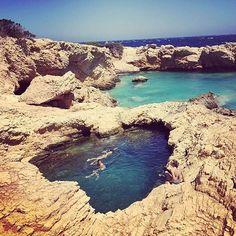Mermaid swimming pool. ✨ #naxos #greece