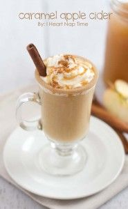 Sweet cream caramel apple cider from iheartnaptime.net ... the perfect holiday treat!
