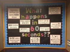 What Happens in 60 Seconds RA Bulletin Board I did, super easy to find fun facts about celebrities pay or trash created... Interesting and educational all in one. :)