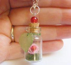 Rose and Ladybug Miniature Food Necklace Pendant  by NeatEats, £11.99