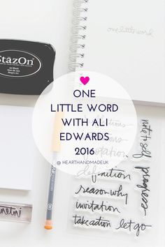 One Little Word with Ali Edwards 2016 - http://www.decorationarch.net/creative-ideas/one-little-word-with-ali-edwards-2016.html -