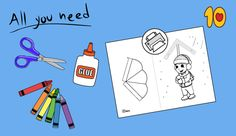 Boy With Umbrella in the Rain Paper Roll Crafts, Paper Crafts For Kids, Shapes Worksheets, Counting Games, Gumball Machine, Preschool Printables, Quality Time, Projects To Try, Rain