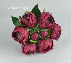 ~Description~ These flowers are ready to ship~ Here one item contains 1 bunch peonies, contains 6 peonies and 2 small buds, all are single stems,