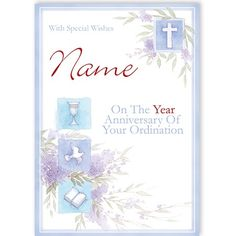 Ordination - QuickClickCards - Your design, your message Personalized Greeting Cards, Your Message, Your Design, Special Occasion, Anniversary, Messages, Text Posts, Text Conversations