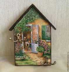 """Przedpokój ręcznie.  Targi Masters - ręcznie gospodyni """"Summer Day"""" decoupage, gospodyni ściany, dom.  Handmade."""