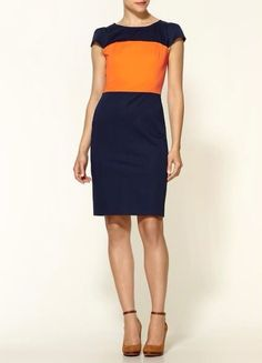 Orange and blue. Love this color combination.