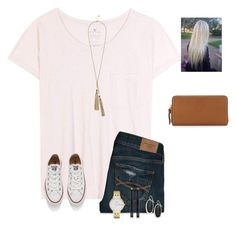 """""""Yay . Monday """" by raquate1232 ❤ liked on Polyvore featuring Velvet, Abercrombie & Fitch, Converse, GUESS, Tory Burch, Kate Spade, Bobbi Brown Cosmetics and Kendra Scott"""