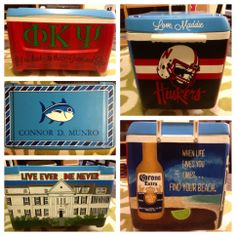my first ever painted frat cooler for my boyfriend!