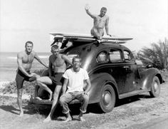 "Just a great photo of early surf ""beatniks"""