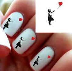 Banksy art on nails