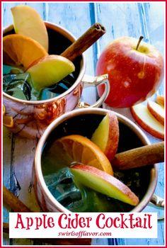 Easy Drink Recipes, Drinks Alcohol Recipes, Apple Recipes, Side Dish Recipes, Cocktail Recipes, Appetizer Recipes, Delicious Recipes, Apple Cider Cocktail, Cider Cocktails