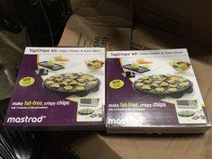Mastrad TopChips Healthy Microwave Potato Chip Maker & Mandoline Set Chips NEW #Mastrad