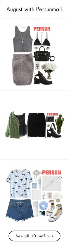 """""""August with Persunmall."""" by cauchemar-exquis ❤ liked on Polyvore featuring Nearly Natural, Dion Lee, Kenneth Cole, Balenciaga, persunmall, Vivienne Westwood, MAC Cosmetics, Shop Succulents, BCBGMAXAZRIA and Philip Kingsley"""