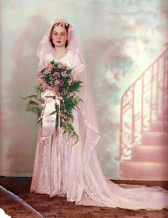 Rita Maude Taylor (1916 - 1990) on the day of her wedding to Ralph Edward Stillions (1915 - 1991) on 6 August 1939 in Meridian, MS. by Robert of Fairfax, via Flickr.