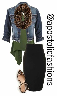 Nice skirt and green shirt :)