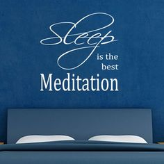 Meditation Quotes | Wall Decals Canada-Wall Stickers - Sleep Best Meditation - Wall Quotes