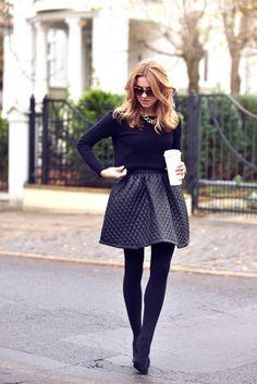 #fashion #style jupe en cuir matelassée #streetstyle #cpourl