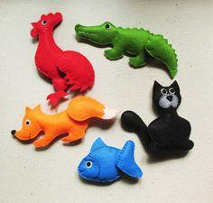 Felt toys for kids. @artschoolrizhik in instagram