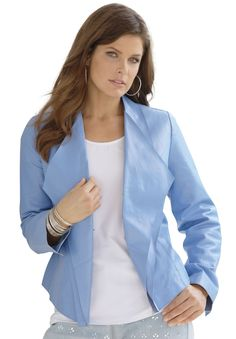 82c862748aa This stunning plus size jacket has lovely ruffles to boot!  fashion  style