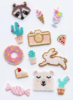 miyuki-nedir-top1 Perler Bead Designs, Easy Perler Bead Patterns, Hama Beads Design, Diy Perler Beads, Perler Bead Art, Hama Perler, Pearler Beads, Loom Beading, Beading Patterns