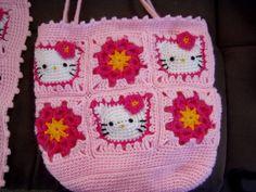 Hello Kitty scarf and Bag - CROCHET
