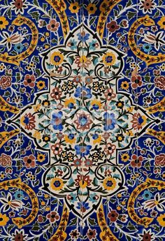 Beautiful tile work within the bazaar mosque of Tehran, Iran. Photography by the talented M. Persian Architecture, Art And Architecture, Tile Art, Mosaic Art, Tile Patterns, Pattern Art, Pattern Ideas, Islamic Tiles, Islamic Motifs
