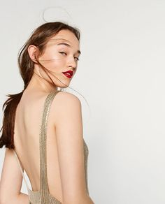 Image 3 of LIMITED EDITION GOLD-TONED DRESS from Zara