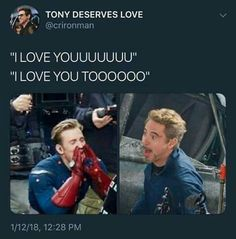 This makes my day. I would love it if RDJ would say that to me.