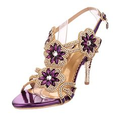 awesome Littleboutique Glitter Strappy Sandal Rosette Floral Dress Sandals Evening High Heels Wedding Heels