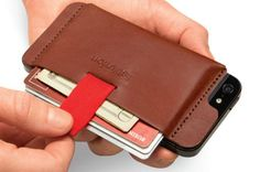Wally: The iPhone Wallet. by Distil Union, via Kickstarter. Wally is a slim, stick-on leather pocket who secretly and securely carries your must-haves on the back of your iPhone 4 or FINAL 29 HOURS! PLEDGE FOR YOUR WALLY NOW! Iphone 4, Iphone Wallet Case, Iphone Cases, Ipad Mini 3, Leather Projects, New Ipad, Protective Cases, Stuff To Buy, Technology