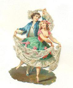 victorian   scrap dancers