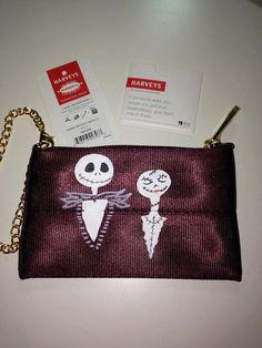 Jack and Sally Minnie Harveys Wristlet $70  <3