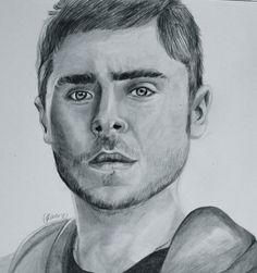 portrait of Zac Efron