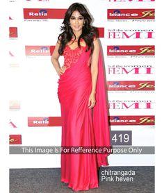 Bollywood Designer New Arrival Pink Saree Chitrangada