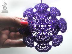 3D fractal: 'Woven Flower' 3d printed