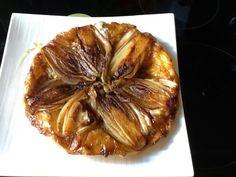 pâte feuilletée, endive, crottins de chavignol, beurre, herbes de Provence, sucre, poivre, sel