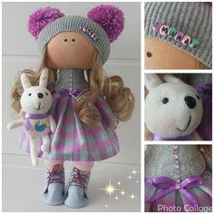 Немного деталей куколки Милы. #likadolls #текстильная_кукла #ручная_работа…
