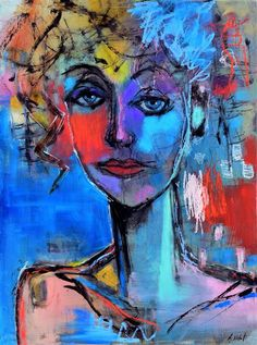 Love this oil painting from Ugallery. Moody Blue Woman by Allen Wittert.