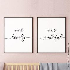 Nursery Decor Girl Isn't She Lovely - Wall Art Design Printable, perfect to hang in Baby Bedroom, Living Room, Bathroom, give as gift 40010 Isnt She Lovely, Makes You Beautiful, Beautiful Wall, New Baby Girls, Baby Girl Newborn, Baby Bedroom, Girls Bedroom, Girl Nursery, Nursery Decor