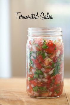 Homemade fermented salsa has been on my list for a long time. I'm not sure why I hesitated to try it because it's so easy to make and I didn't have to use any whey!