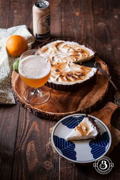 Orange Lime Belgian Wit Cream Tart - The Beeroness Cooking With Beer, Sweet Pie, Beer Recipes, Different Recipes, Baked Goods, Delicious Desserts, Sweet Tooth, Food Photography, Lime